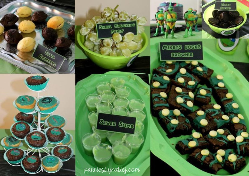 Ninja Turtles Birthday Party Food Ideas