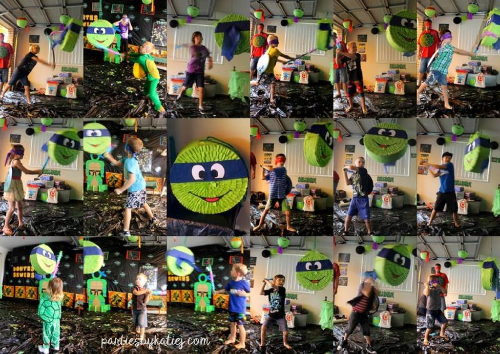 Ninja Turtles Birthday Party Pinata Games