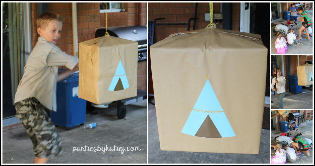 Camping Pinata Birthday DIY Pinata Make at Home