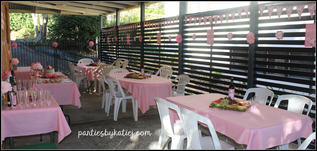 Rustic Pink Floral Birthday Party Ideas Setup Cake Table