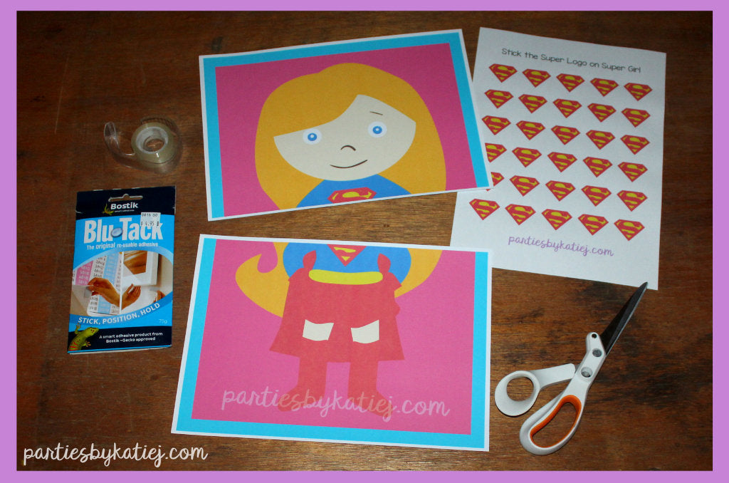 DIY Girls Super Hero Party Game with Free Printables