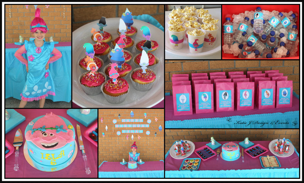 Trolls Party Decorations Cake Table Ideas Setup
