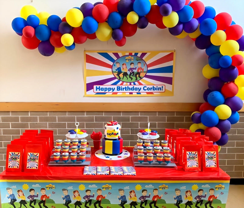 The Wiggles Birthday Party Cake Table