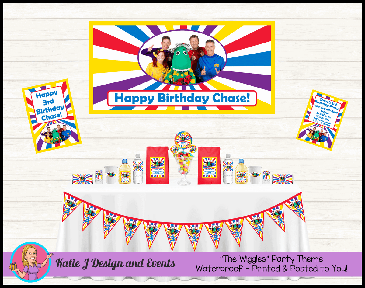 The Wiggles Personalised Party Packs Decorations Supplies Australia