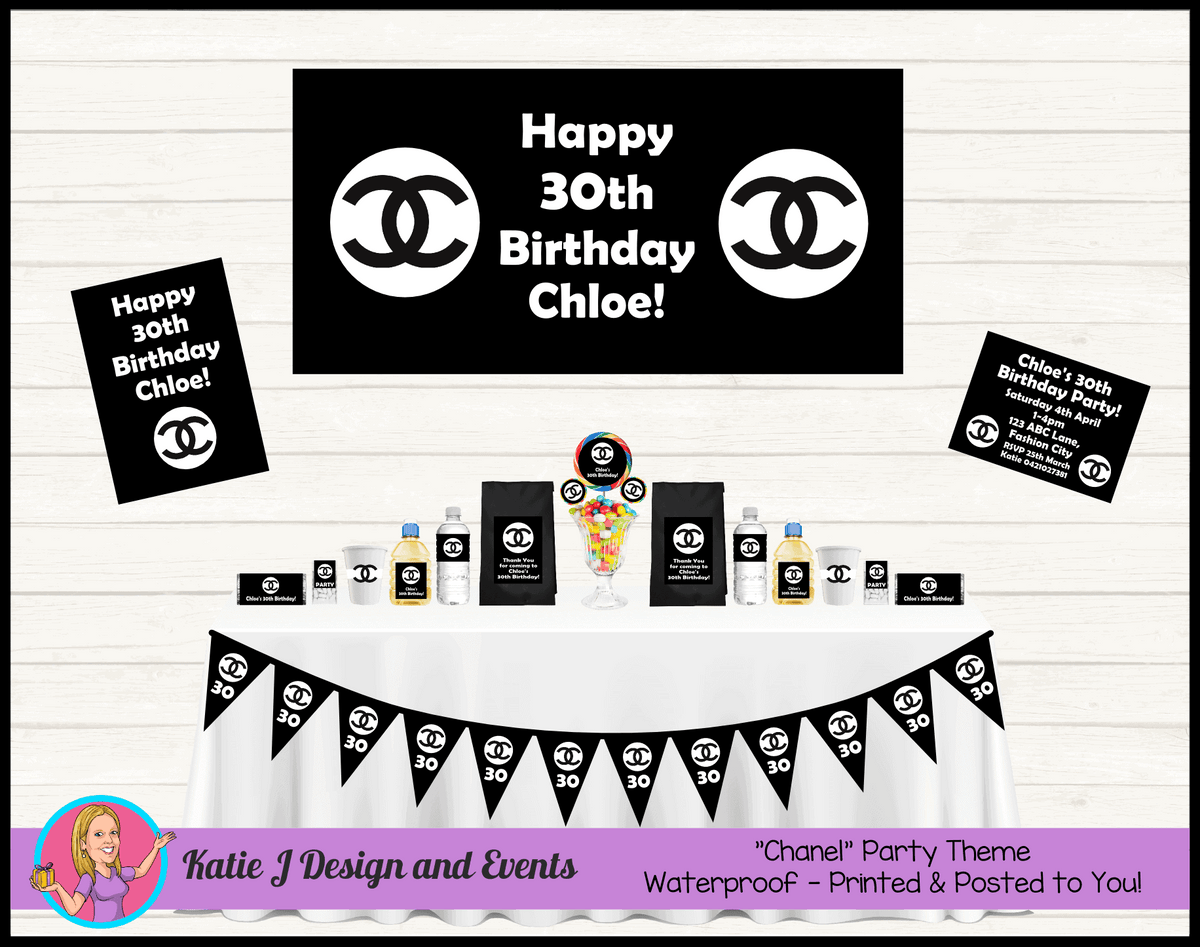 Personalised Coco Chanel Birthday Party Packs Decorations Supplies