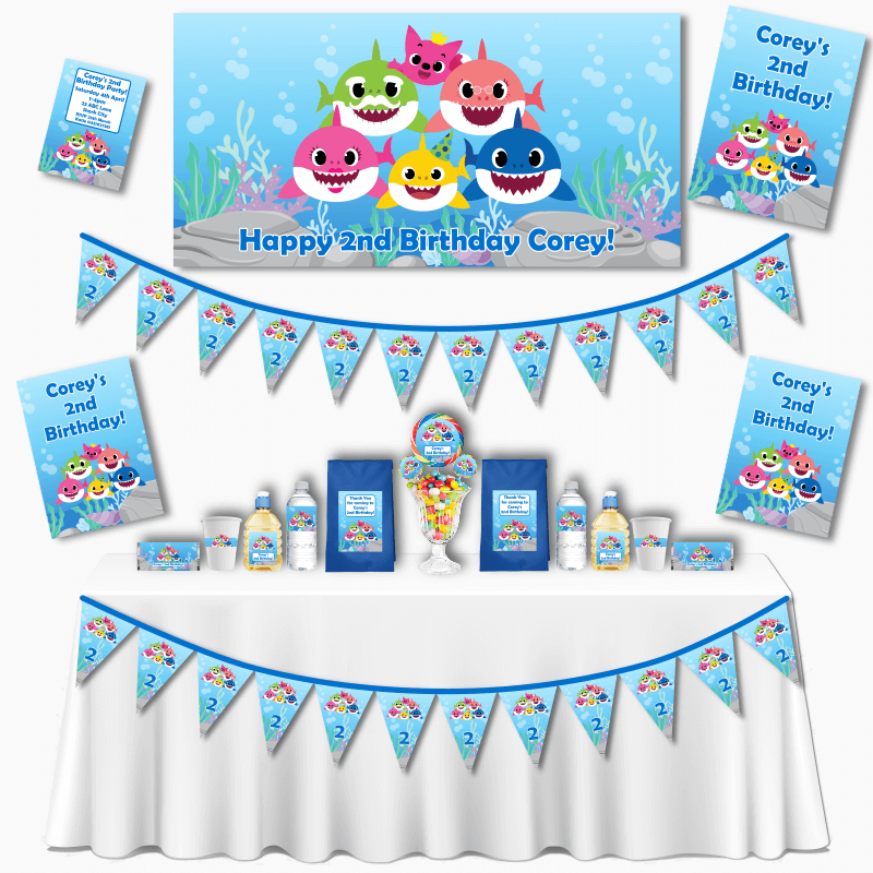 Personalised Baby Shark Grand Birthday Party Pack