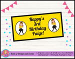 Pink & Gold Unicorn Personalised Birthday Party Banners