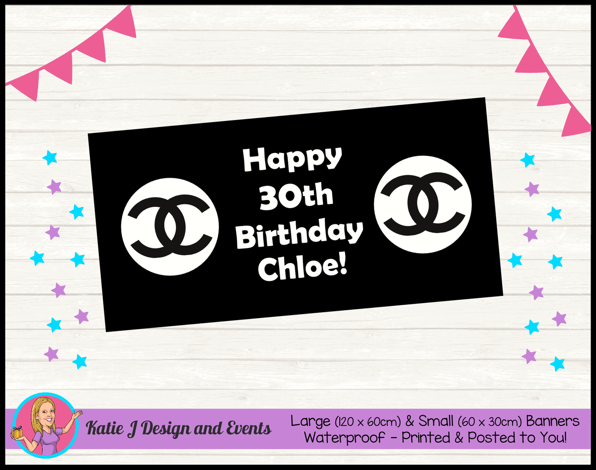 Personalised Coco Chanel Birthday Party Banners
