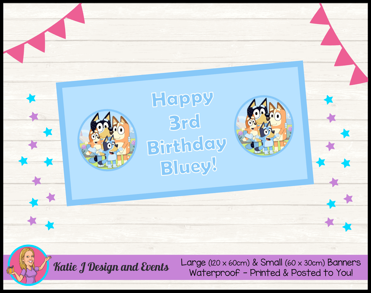 Bluey Personalised Birthday Party Banner