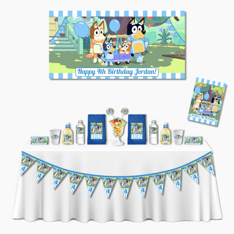 Personalised Bluey Birthday Deluxe Party Pack