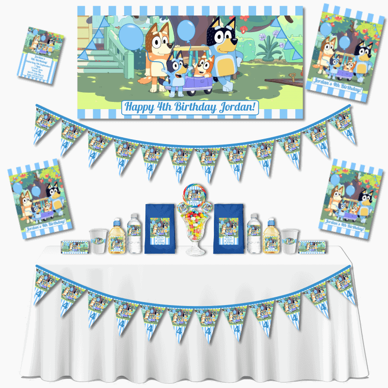 Personalised Bluey Birthday Grand Party Pack
