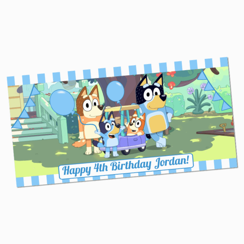 Bluey Birthday Banner