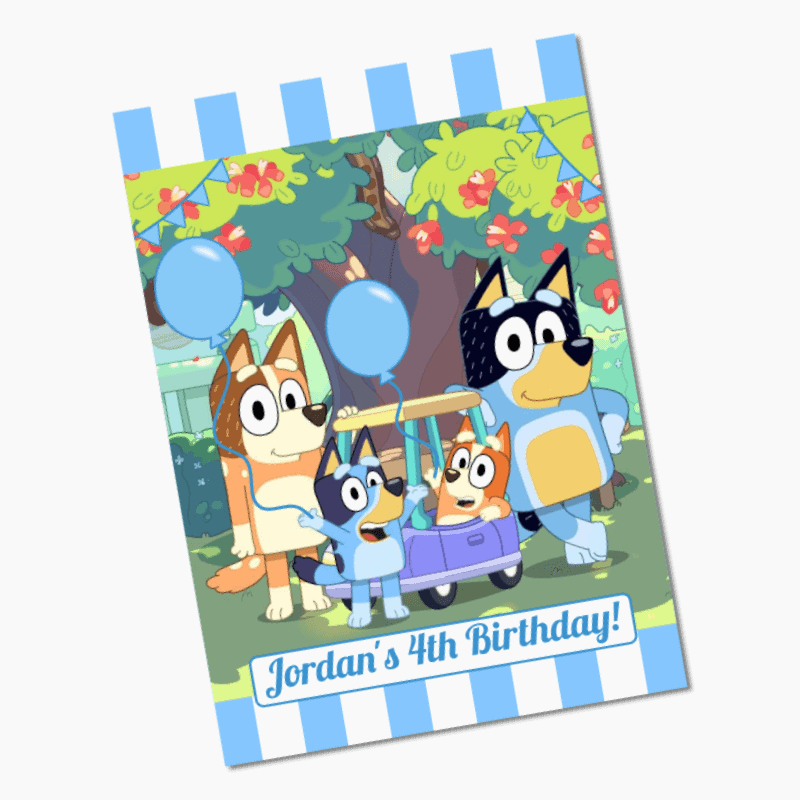 Personalised Bluey Birthday Party Posters