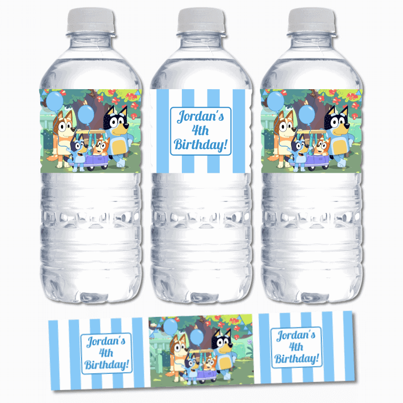 Bluey Water Labels