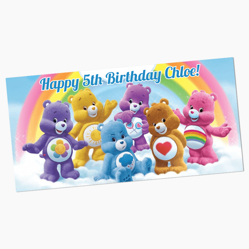 Personalised Care Bears Deluxe Birthday Party Pack