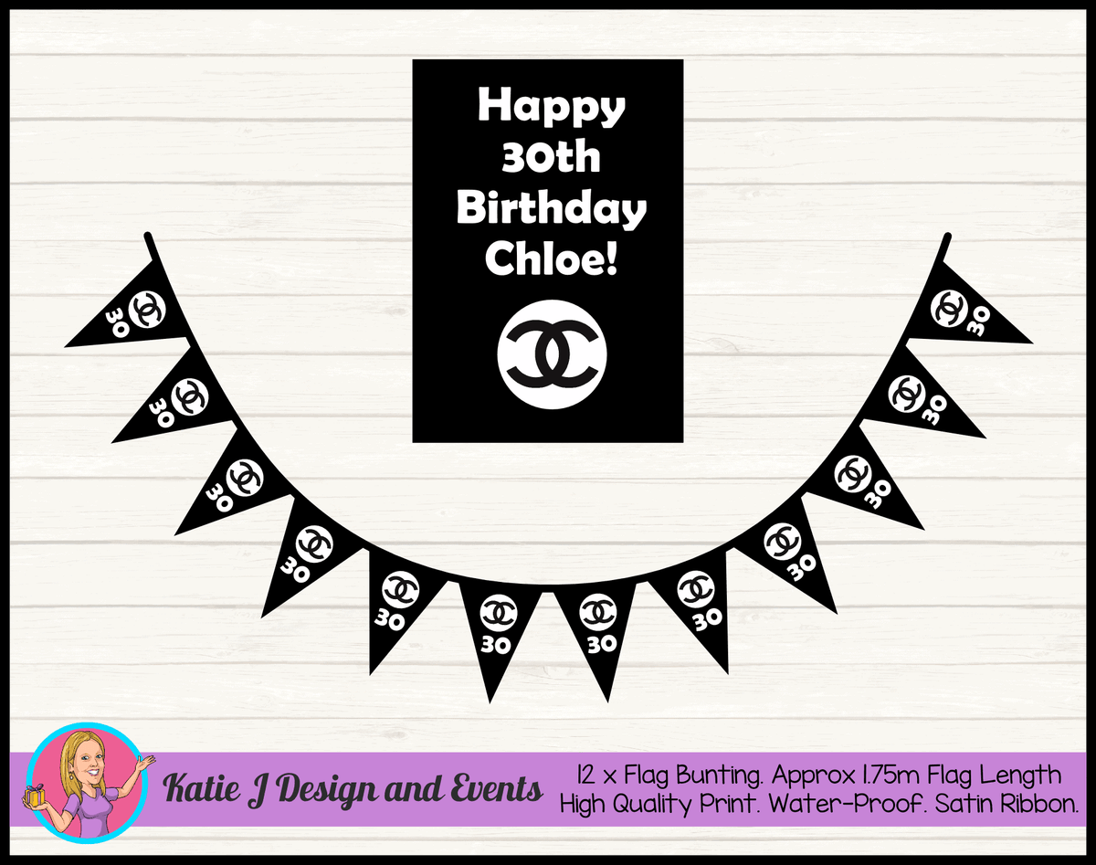 Personalised Chanel Birthday Party Decorations