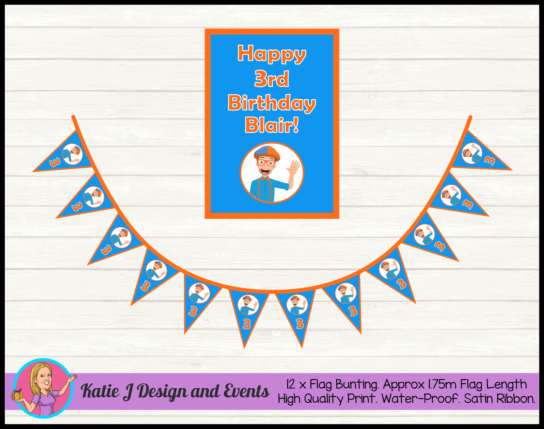 Blippi Personalised Party Packs Decorations Supplies