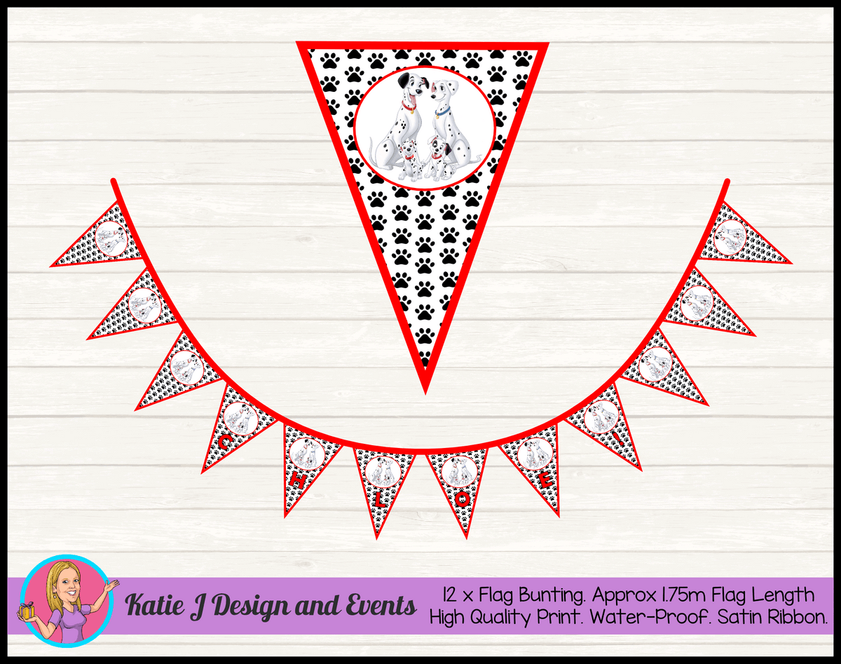 Personalised 101 Dalmatians Birthday Party Decorations