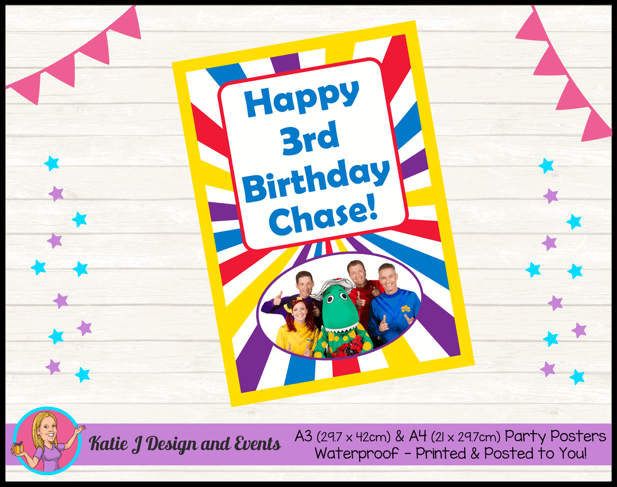 The Wiggles Personalised Birthday Party Posters