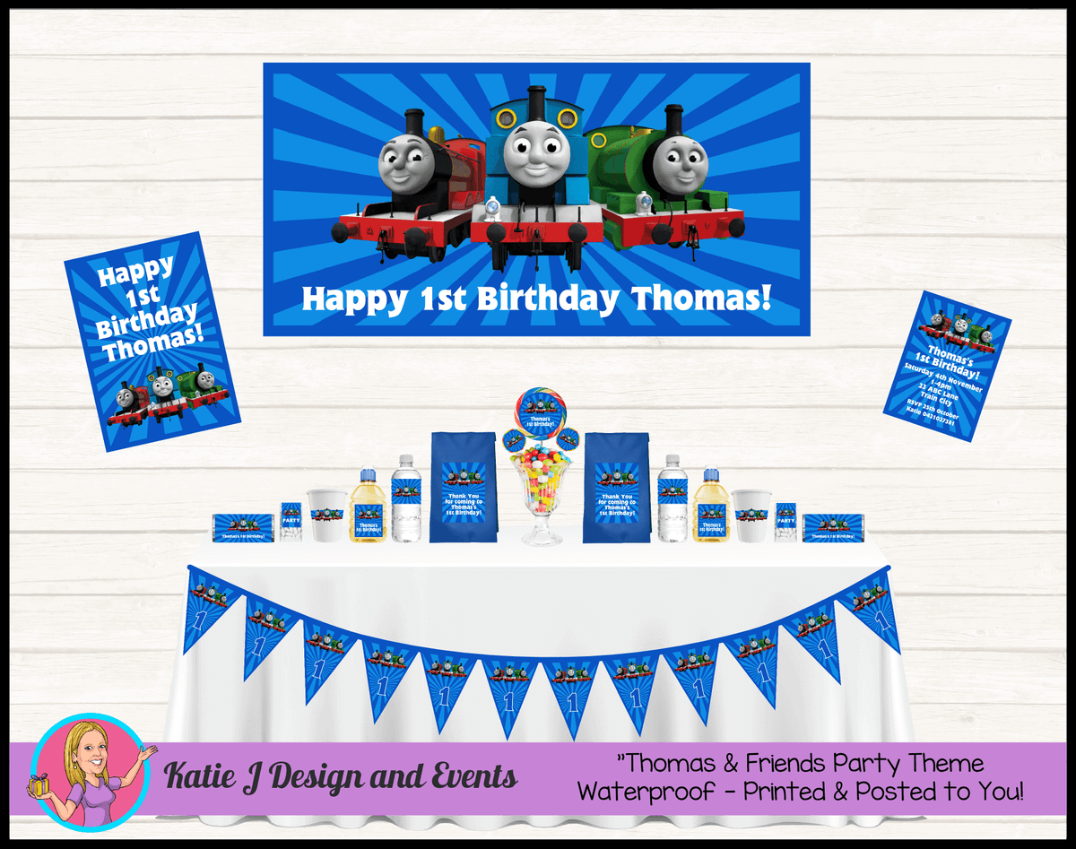 Personalised Thomas & Friends Party Packs Decorations Supplies