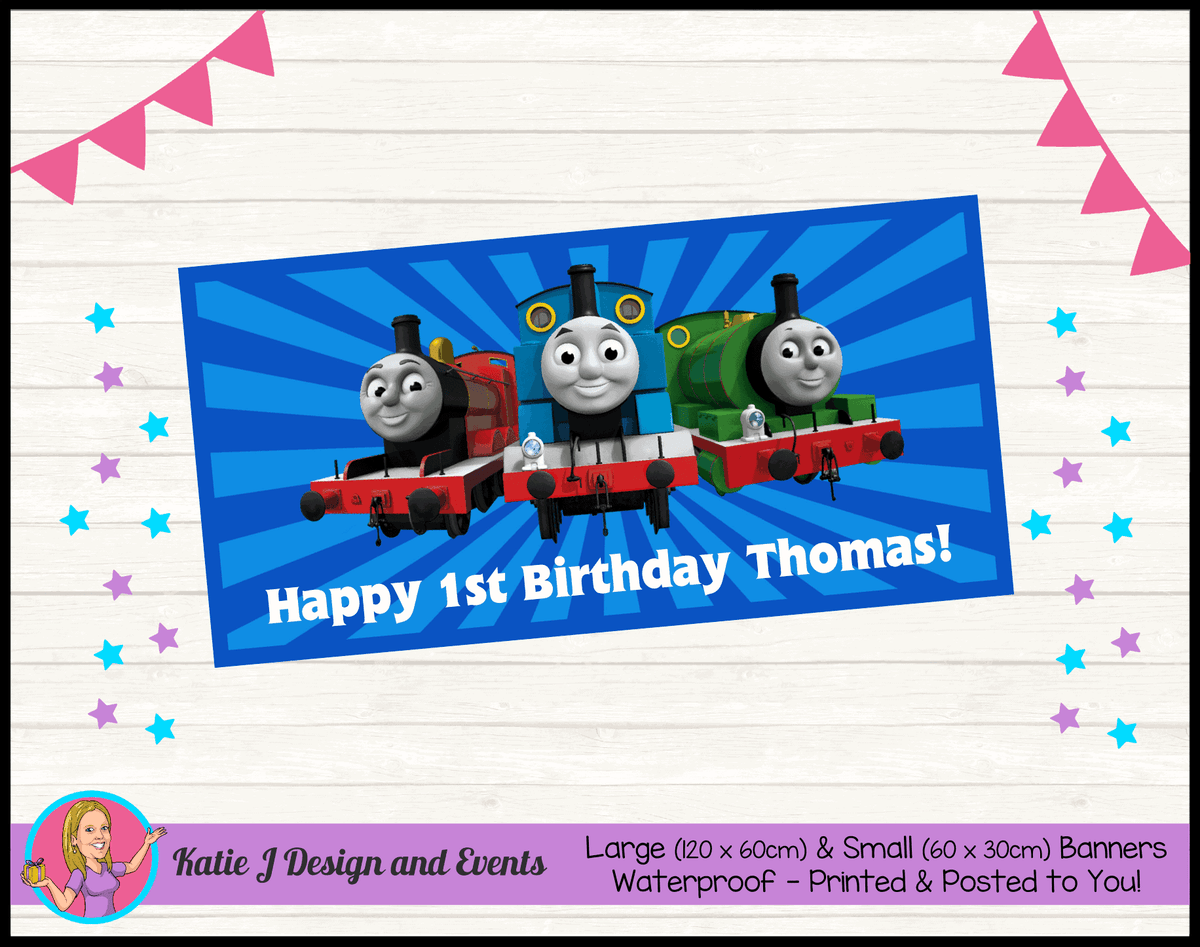 Personalised Thomas & Friends Birthday Party Banner