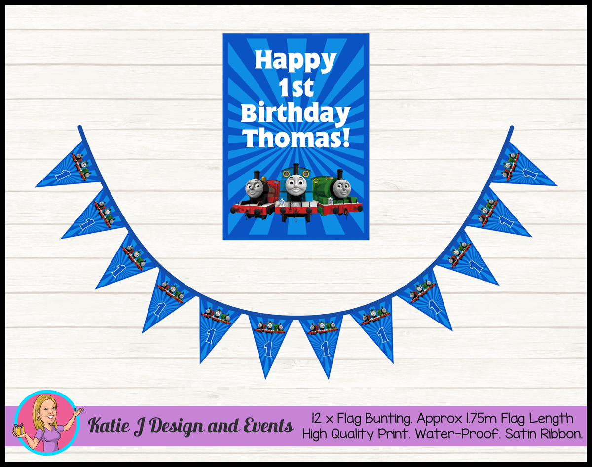 Personalised Thomas & Friends Birthday Party Combo