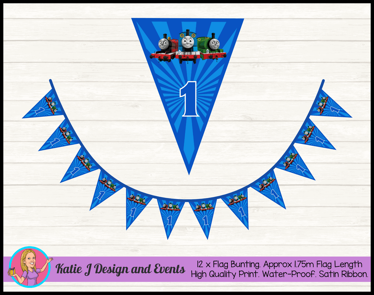 Personalised Thomas & Friends Birthday Party Flag Bunting