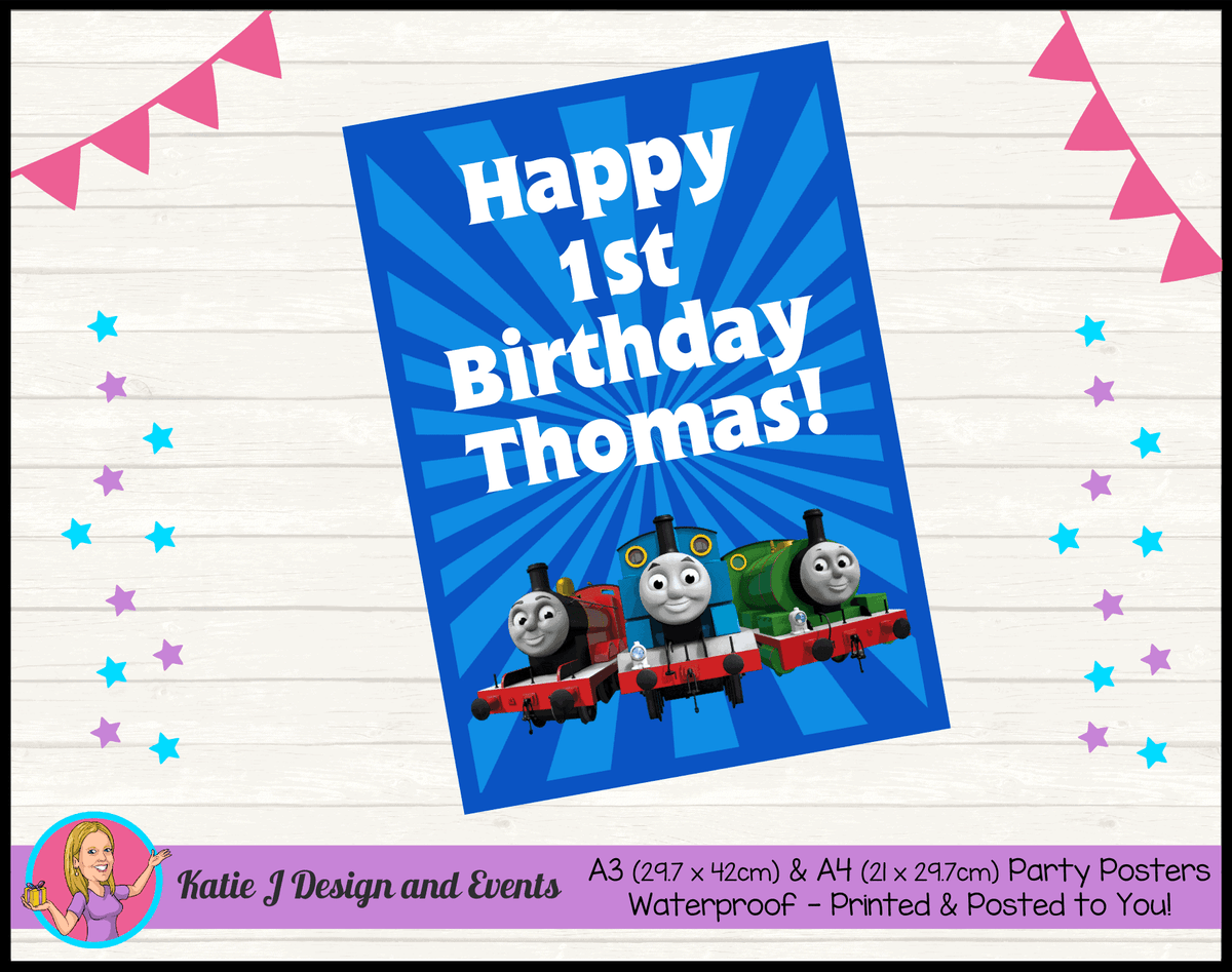 Personalised Thomas & Friends Birthday Party Poster