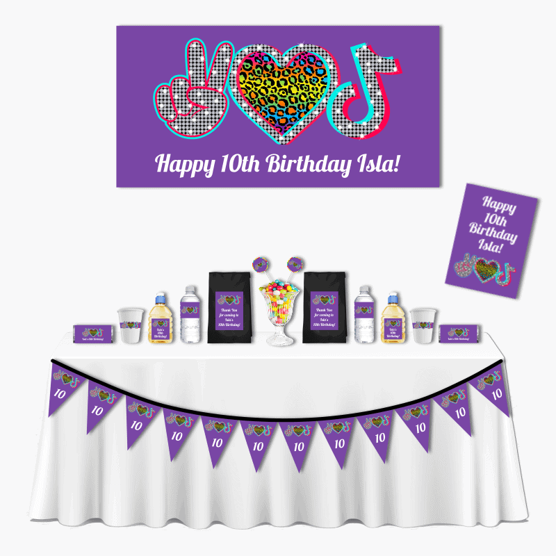 Personalised Tik Tok Deluxe Birthday Party Pack