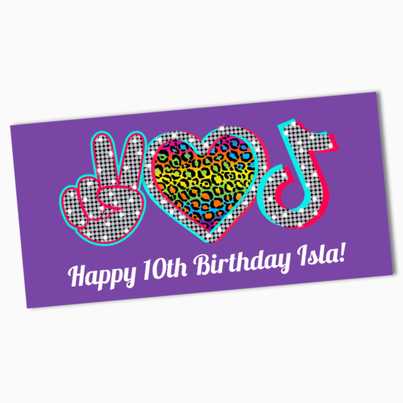 Personalised Tik Tok Birthday Party Banners