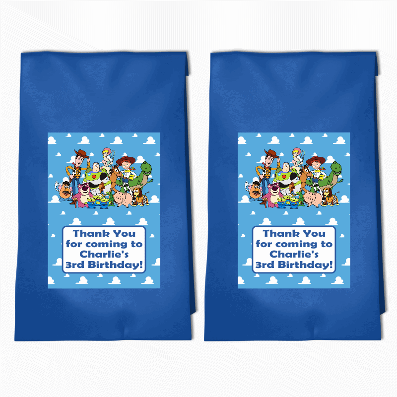 Personalised Toy Story Birthday Party Bags