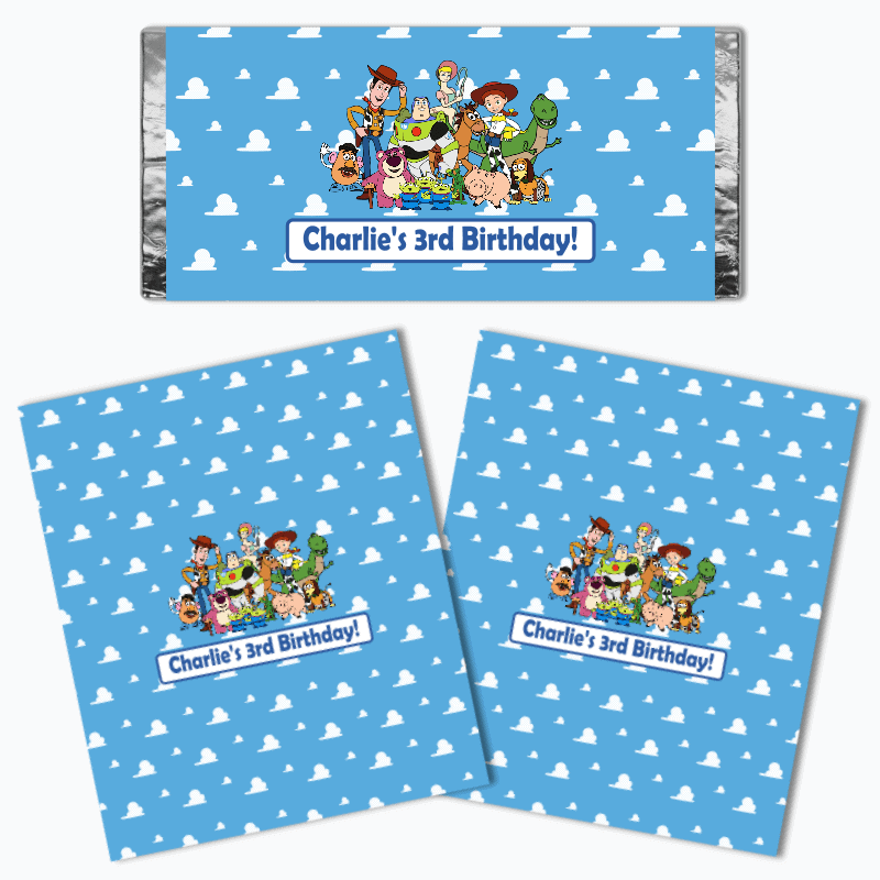 Personalised Toy Story Birthday Party Chocolate Wrappers