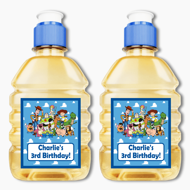 Personalised Toy Story Birthday Party Pop Top Juice Labels