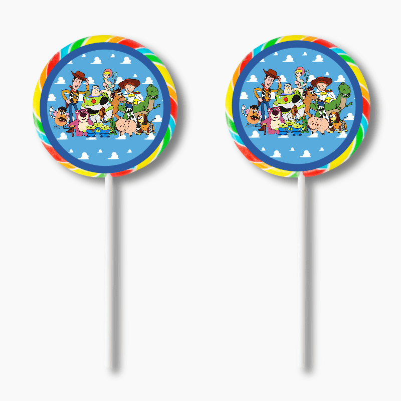 Personalised Toy Story Birthday Party Lollipop Stickers