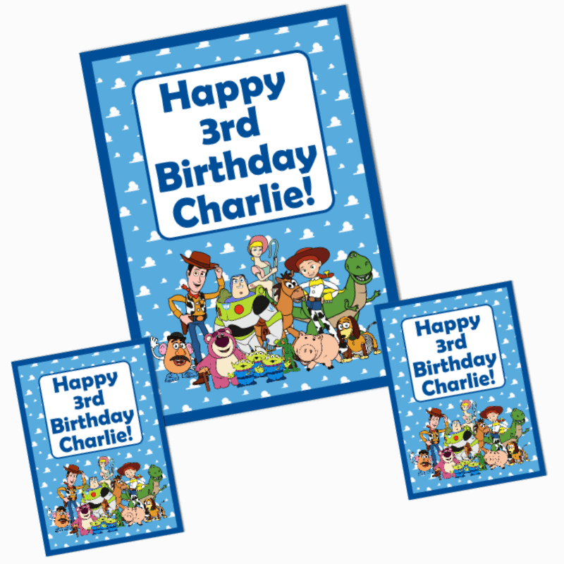 Personalised Toy Story Birthday Party Posters