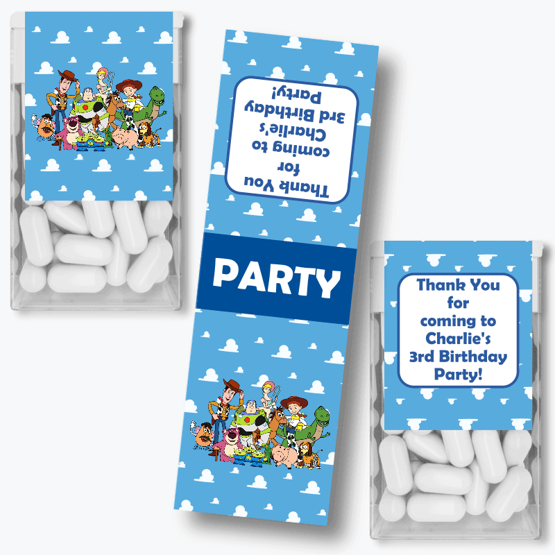 Personalised Toy Story Birthday Party Tic Tac Labels