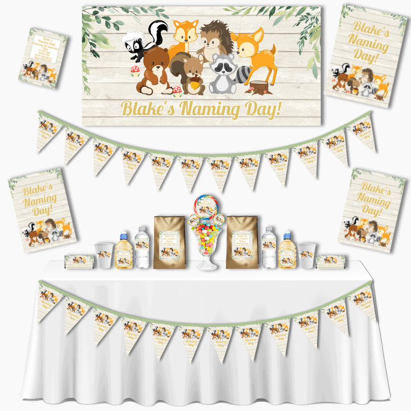 Personalised Woodland Animals Grand Naming Day Pack