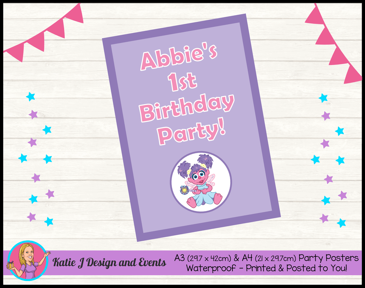Abby Cadabby Personalised Birthday Party Posters
