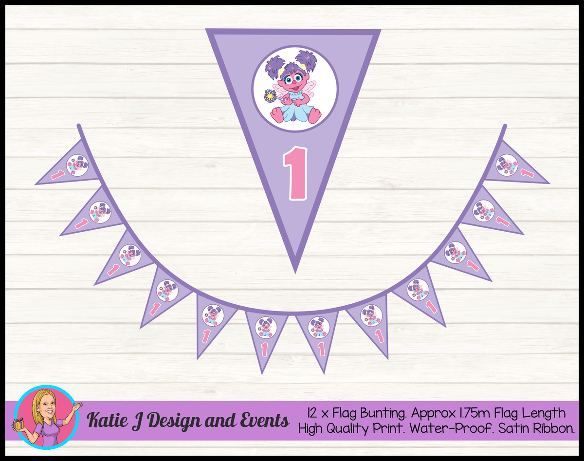 Abby Cadabby Personalised Birthday Party Flag Bunting
