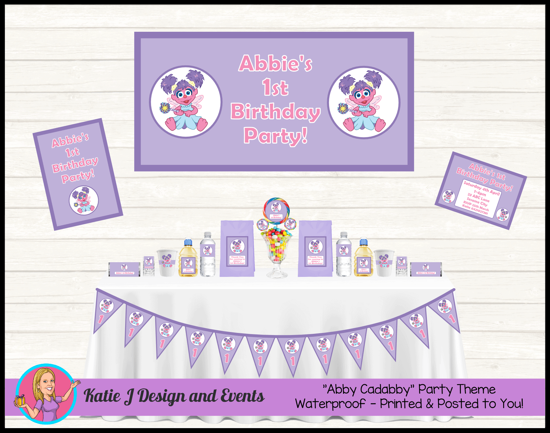 Abby Cadabby Personalised Party Packs Decorations Supplies