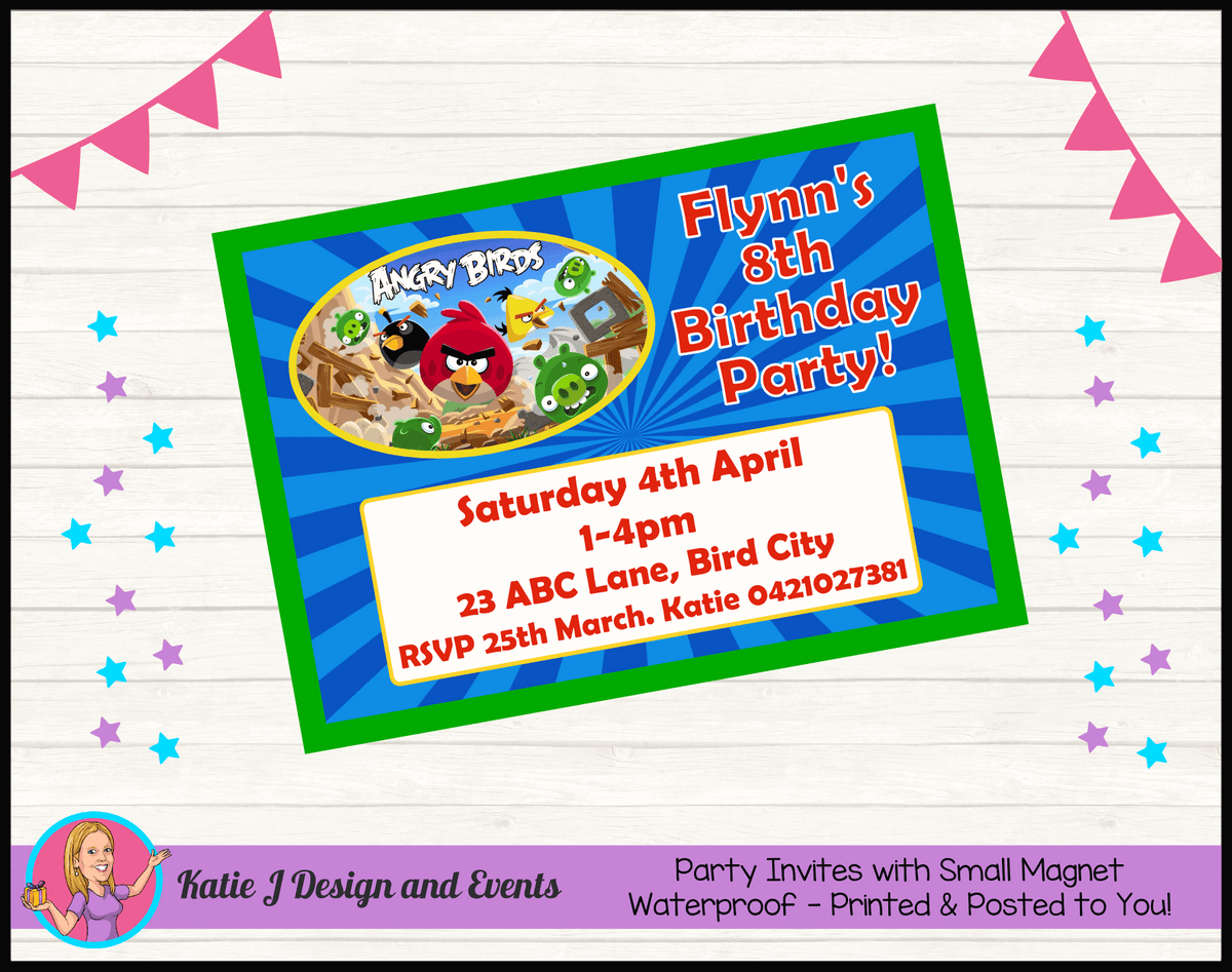 Angry Birds Birthday Party Decorations