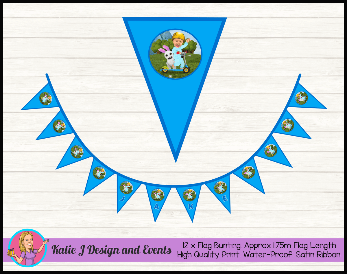 Baby Jake Personalised Birthday Party Flag Bunting Name