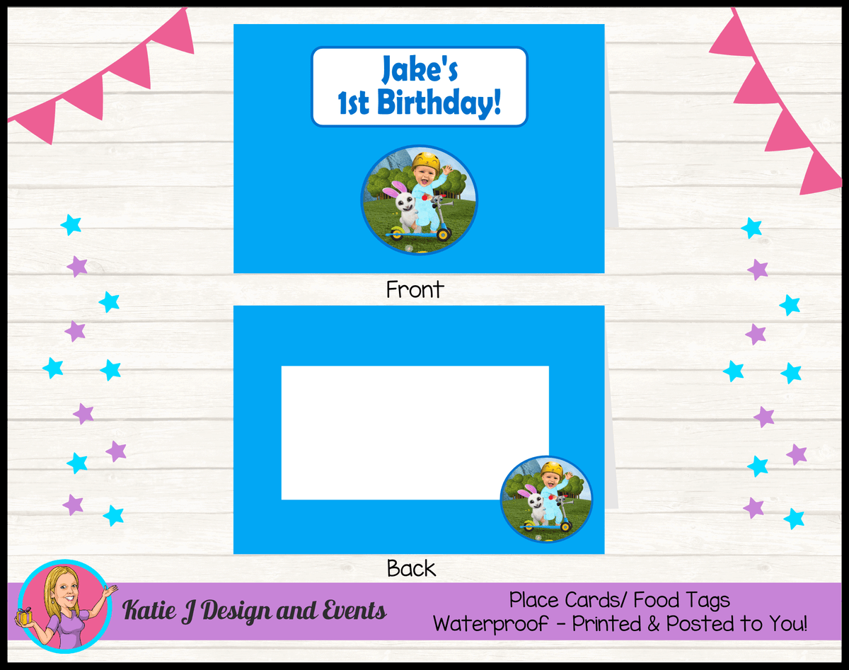 Baby Jake Personalised Birthday Party Place Cards