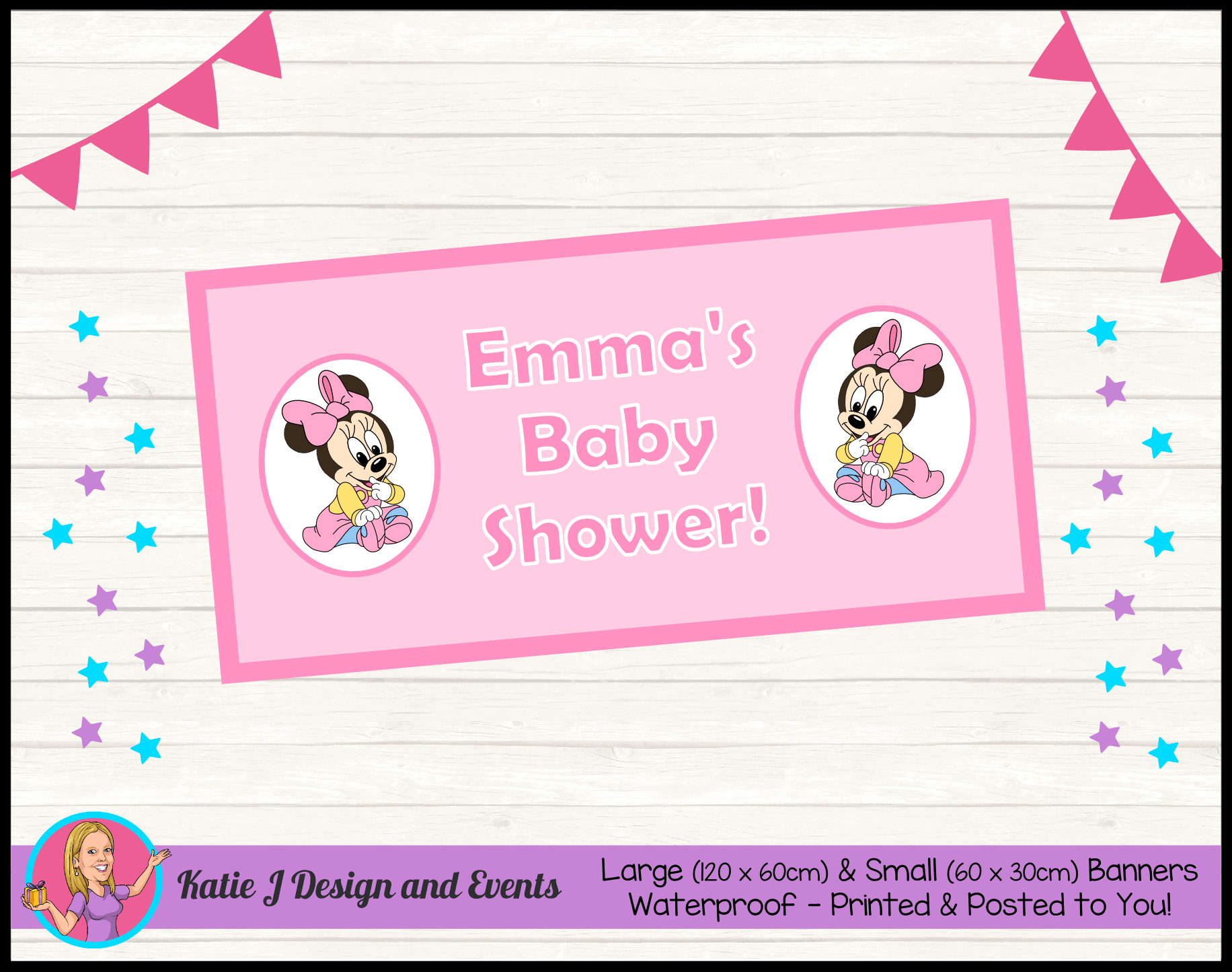 Personalised Baby Minnie Shower Decorations Supplies Australia