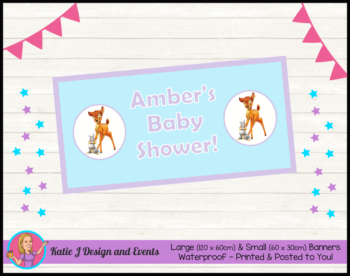 Bambi Personalised Baby Shower Banners