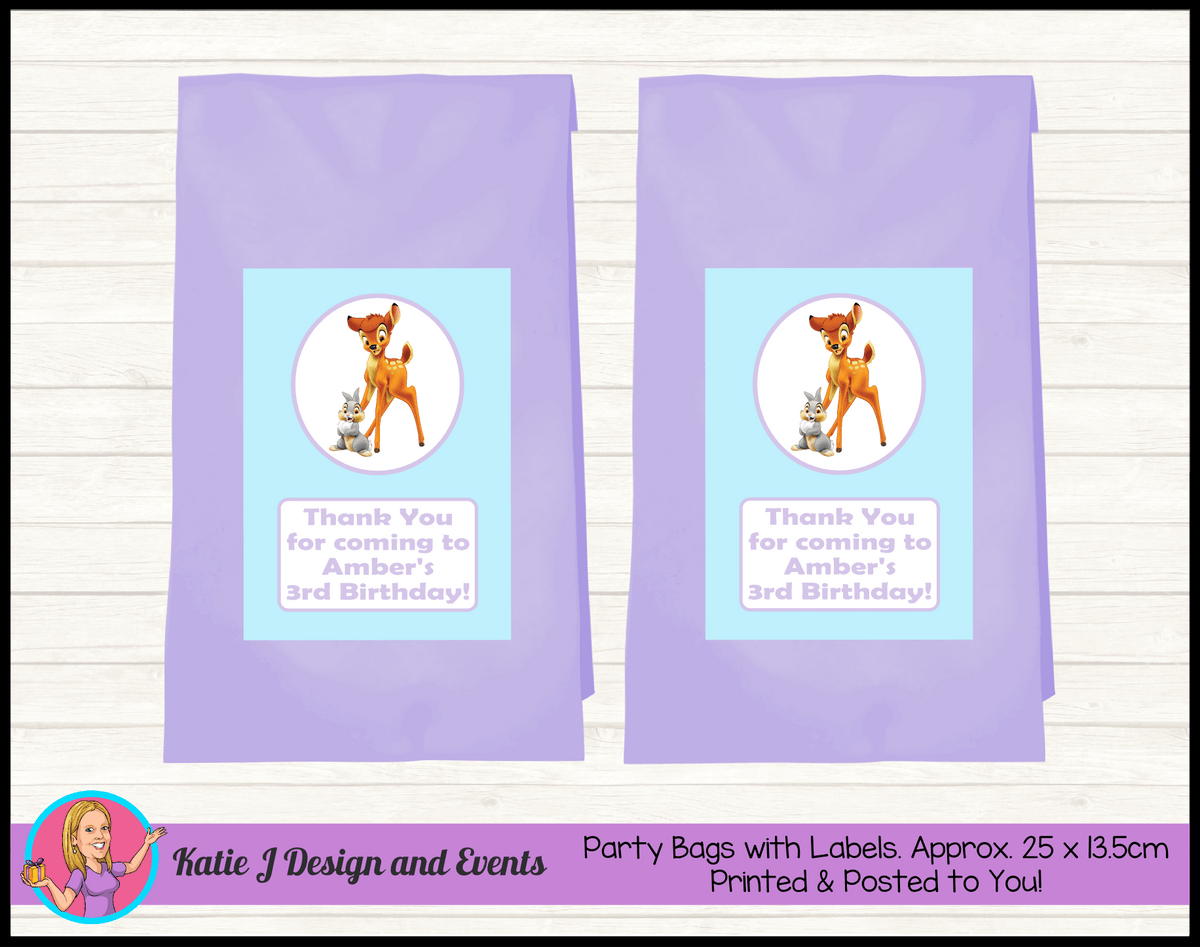 Bambi Personalised Birthday Party Loot Bags