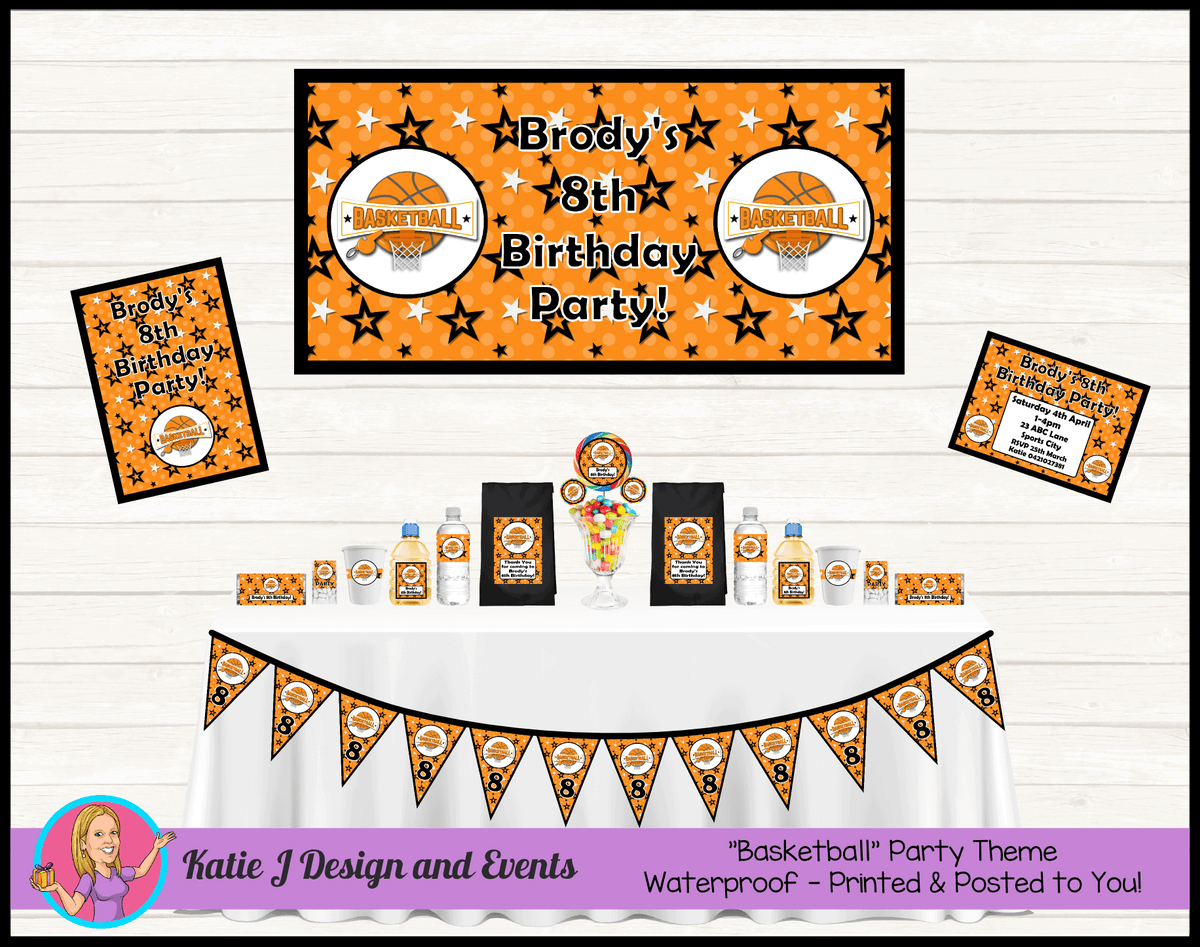 Basketball Personalised Party Packs Decorations Supplies Australia