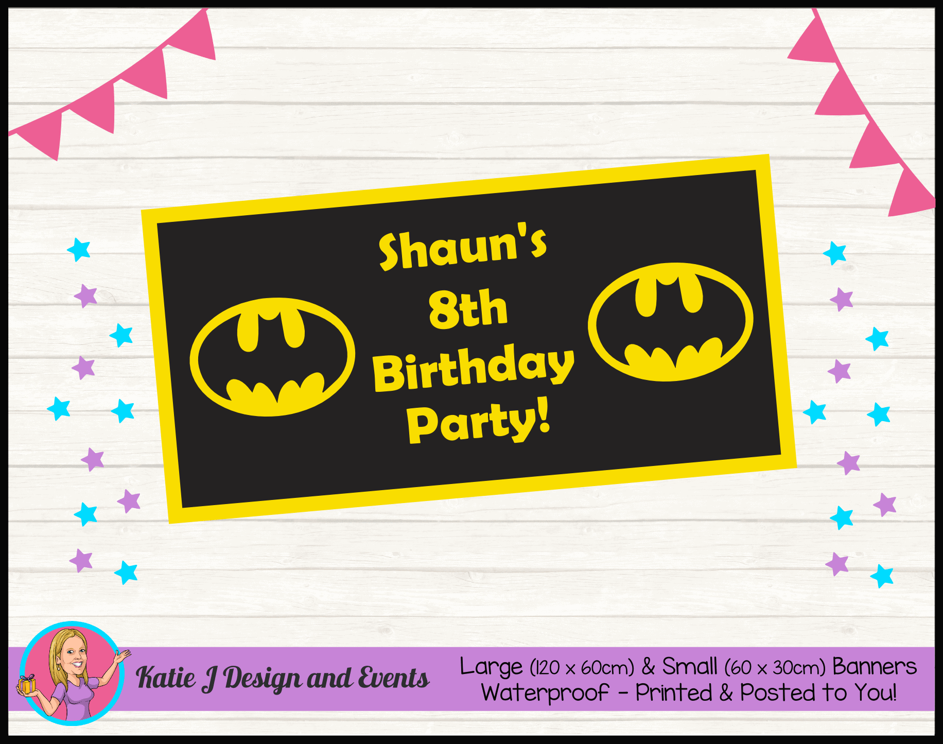 Batman Logo Personalised Party Packs Decorations Supplies