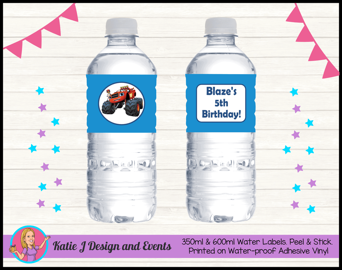 Blaze and the Monster Machines Personalised Water Bottle Labels