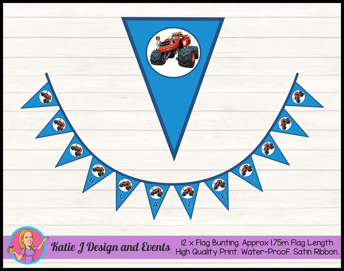 Personalised Blaze and the Monster Machines Party Decorations